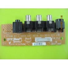 PHILIPS 42PFL5332/45 P/N: 3139 123 6229 AV INPUT BOARD