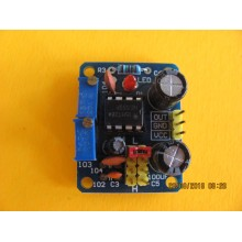NE555 Square Wave Duty Cycle and Frequency Adjustable Module